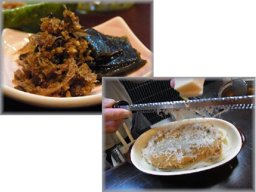 サービスの佃煮と新作グラコロ.JPG